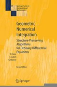 Geometric Numerical Integration 2nd edition 9783540306634 3540306633