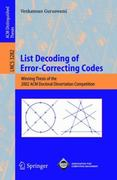 List Decoding of Error-Correcting Codes 1st edition 9783540240518 3540240519