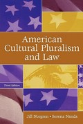 American Cultural Pluralism and Law 3rd Edition 9780275986995 0275986993
