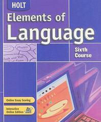 Elements of Language 4th edition 9780030686719 0030686717