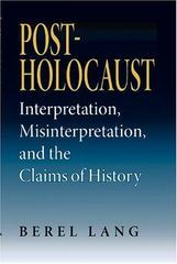 Post-Holocaust 0 9780253217288 0253217288