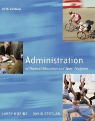 Administration of Physical Education and Sport Programs 5th Edition 9780072557169 0072557168