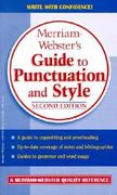 Merriam-Webster's Guide to Punctuation and Style 2nd edition 9780877799214 0877799210