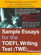 Sample Essays for the TOEFL Writing Test (TWE) 0 9781411607743 1411607740