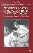 Women's Poetry, Late Romantic To Late Victorian 0 9780312215361 0312215363