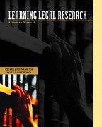 Learning Legal Research 1st edition 9780130450340 0130450340
