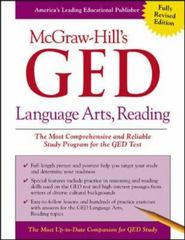 McGraw-Hill's GED Language Arts, Reading 1st edition 9780071407106 0071407103