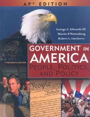Government in America 13th edition 9780131347601 0131347608