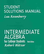 Intermediate Algebra for College Students 3rd edition 9780130342898 0130342890