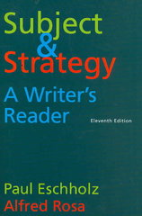Subject and Strategy 11th edition 9780312462901 0312462905