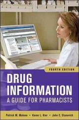 Drug Information: A Guide for Pharmacists, Fourth Edition 4th Edition 9780071624954 0071624953