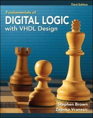 Fundamentals of Digital Logic with VHDL Design 3rd edition 9780077384296 0077384296