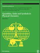 Quantities, Units and Symbols in Physical Chemistry 3rd edition 9780854044337 0854044337