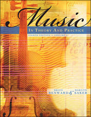 Music in Theory and Practice, Volume 1 with Audio CD 8th Edition 9780077254940 0077254945