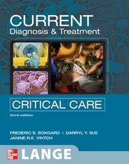 CURRENT Diagnosis and Treatment Critical Care, Third Edition 3rd edition 9780071436571 007143657X