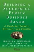 Building a Successful Family Business Board 0 9780230111547 0230111548