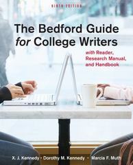 The Bedford Guide for College Writers with Reader, Research Manual, and Handbook 9th edition 9780312601539 0312601530