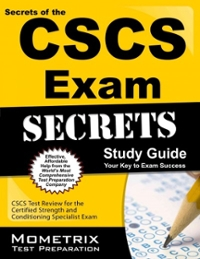 Secrets of the CSCS Exam Study Guide 1st Edition 9781609715458 1609715454