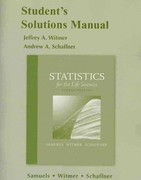Student Solutions Manual for Statistics for the Life Sciences 4th edition 9780321693075 0321693078