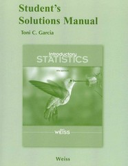 Student Solutions Manual for Introductory Statistics 9th edition 9780321691316 0321691318