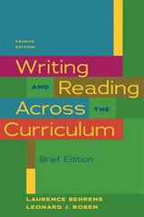 Writing & Reading Across the Curriculum, Brief Edition 4th edition 9780205000692 020500069X