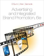 Advertising and Integrated Brand Promotion 6th Edition 9780538473323 0538473320