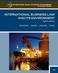 International Business Law and Its Environment 8th edition 9781133419815 113341981X
