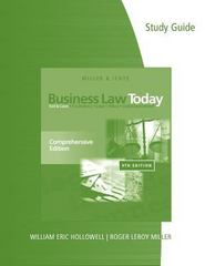 Study Guide for Miller/Jentz's Business Law Today: Comprehensive 9th Edition 9781285225791 1285225791
