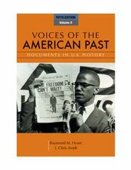 Voices of the American Past, Volume II 5th edition 9781111341268 1111341265