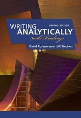 Writing Analytically with Readings 2nd edition 9780495910077 0495910074