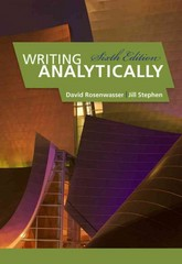 Writing Analytically 6th edition 9780495910084 0495910082