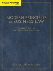 Cengage Advantage Books: Modern Principles of Business Law 1st Edition 9781111531171 111153117X