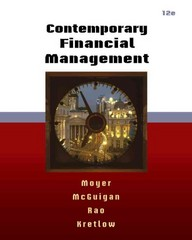 Contemporary Financial Management (with Thomson ONE - Business School Edition 6-Month Printed Access Card) 12th Edition 9780538479172 0538479175