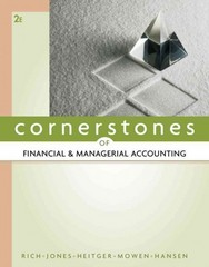 Cornerstones of Financial and Managerial Accounting 2nd edition 9780538473484 0538473487