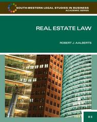 Real Estate Law 8th edition 9780840053596 0840053592
