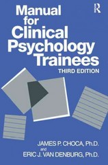 Manual For Clinical Psychology Trainees 3rd edition 9780876308141 0876308140