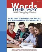 Words Their Way with Struggling Readers 1st Edition 9780135135211 0135135214