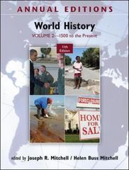 Annual Editions: World History 11th edition 9780078050978 0078050979