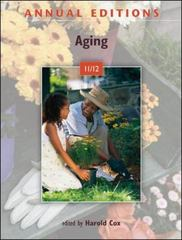 Annual Editions: Aging 11/12 24th Edition 9780078050862 0078050863