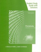 Study Guide with Solutions for Faires/Defranza's Precalculus 5th Edition 9781111427368 1111427364