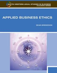 Applied Business Ethics 1st Edition 9780538453981 0538453982