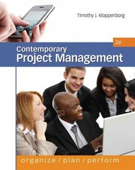Contemporary Project Management (with Microsoft Project CD-ROM and Printed Access Card) 2nd edition 9780538477017 0538477016