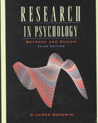 Research in Psychology 3rd Edition 9780471398615 0471398616