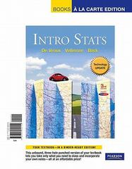 Intro Stats Technology Update, Books a la Carte Edition 3rd edition 9780321699152 0321699157