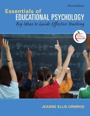 Essentials of Educational Psychology 3rd edition 9780131367272 0131367277
