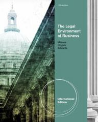 The Legal Environment of Business 11th edition 9780538473507 0538473509