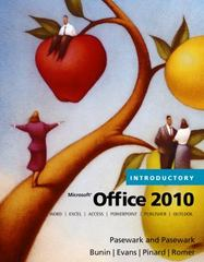 Microsoft Office 2010, Introductory 1st edition 9780538475518 053847551X