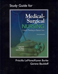 Student Study Guide for Medical-Surgical Nursing 5th edition 9780135125274 0135125278