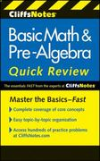 CliffsNotes Basic Math and Pre-Algebra Quick Review 2nd Edition 9780470880401 0470880406
