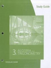 Study Guide for Stewart/Redlin/Watson's Algebra and Trigonometry 3rd Edition 9781111568108 1111568103